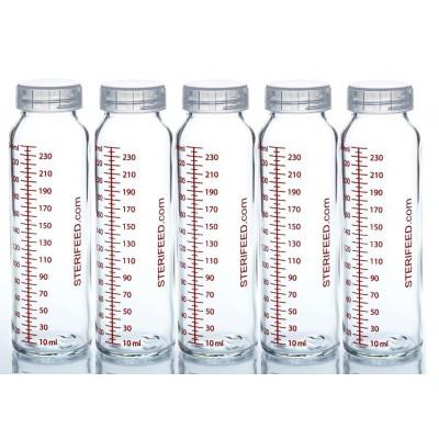 ZESTAW- 10szt. Butelka dla niemowląt wielorazowa szklana, 240 ml