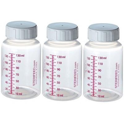 ZESTAW- 3szt. Butelki wielorazowego użytku do karmienia i przechowywania pokarmu 130ml