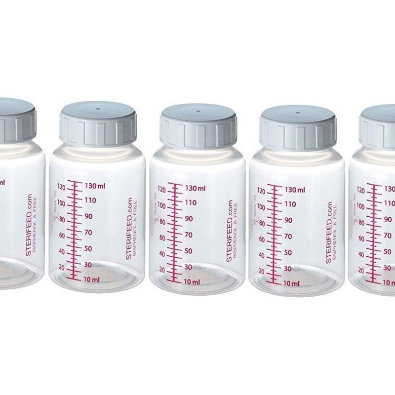 ZESTAW- 10szt. Butelka wielorazowego użytku do karmienia i przechowywania pokarmu 130ml