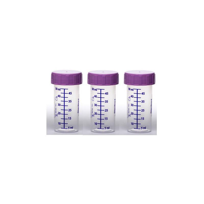 ZESTAW -3szt. Butelka jednorazowego użytku do karmienia i przechowywania pokarmu 50ml