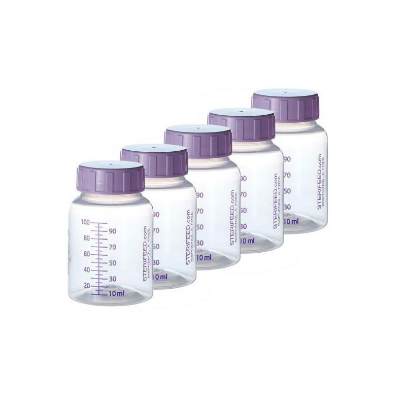 ZESTAW- 10szt. Butelka jednorazowego użytku do karmienia i przechowywania pokarmu 100ml