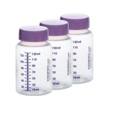 ZESTAW- 3szt. Butelka jednorazowego użytku do karmienia i przechowywania pokarmu 130ml