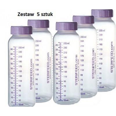 ZESTAW- 5szt. Butelka jednorazowego użytku do karmienia i przechowywania pokarmu 250ml