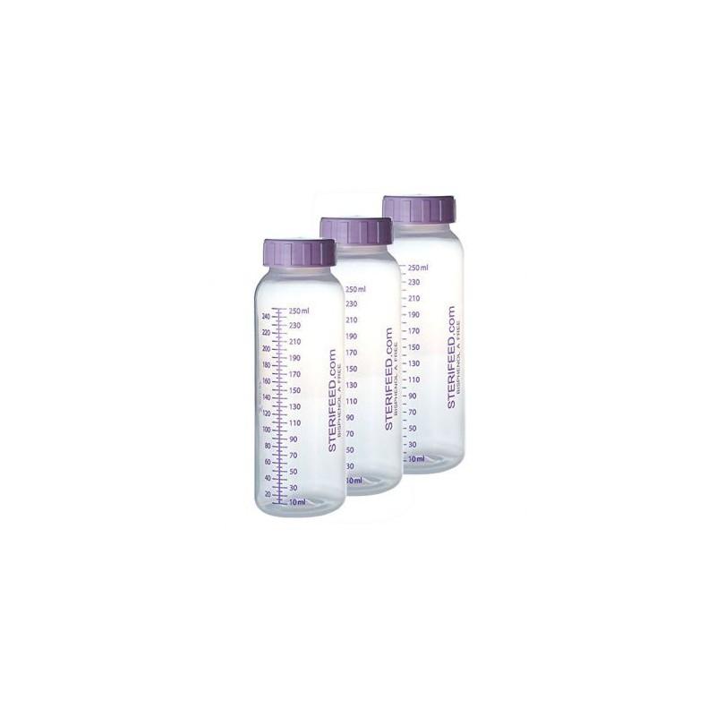 ZESTAW- 3szt. Butelka jednorazowego użytku do karmienia i przechowywania pokarmu 250ml